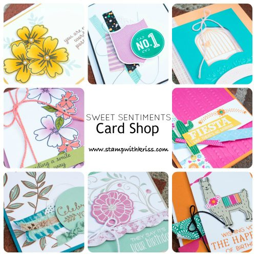 AugSept2016 Sweet Sentiments Card Shop