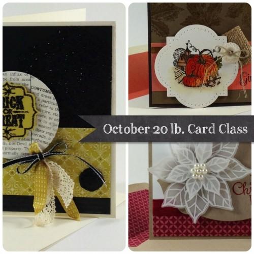 October 20lb. card ad