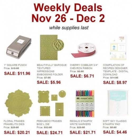 Weekly Deals Nov. 26-Dec