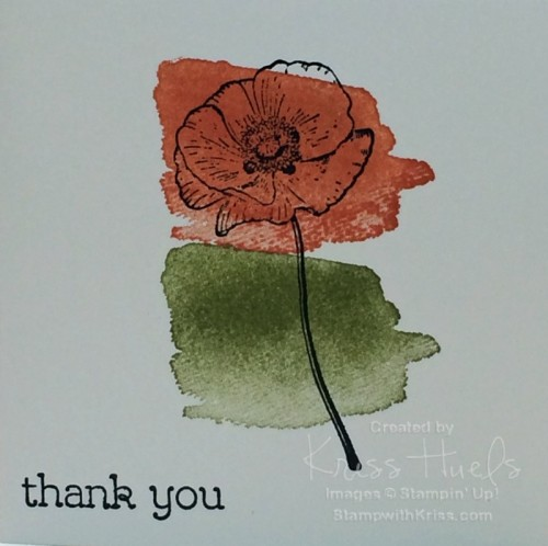 Floral thank you single