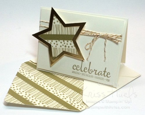 Fabulous Four and Star Framelit with washi tape