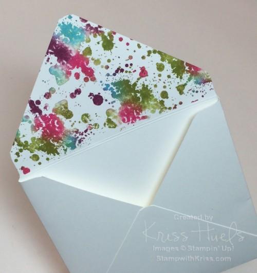 Tie dyed envelope