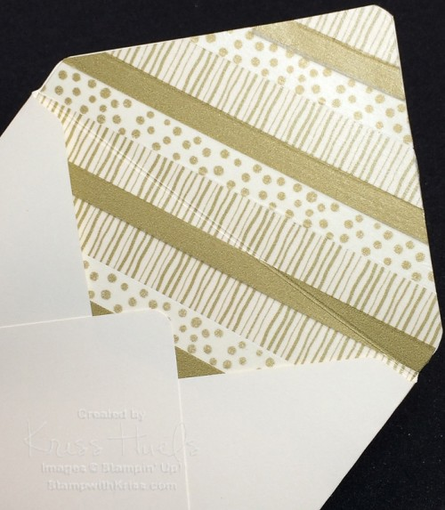 lining envelope with washi tape