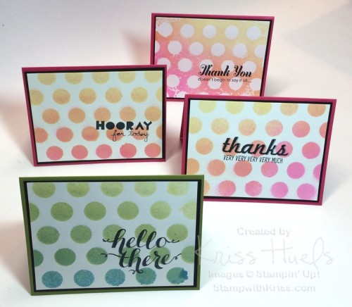 Dots & Stripes decorative masks card collection