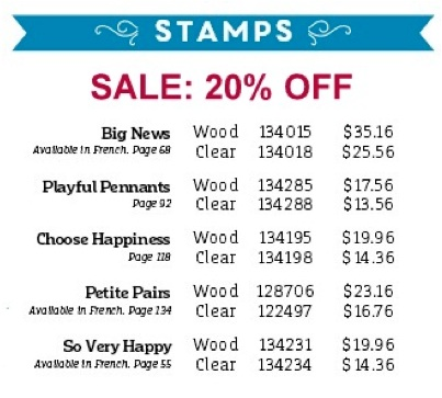 20 percent off stamp sale