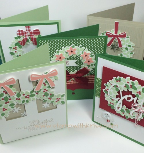 Wondrous Wreath card set
