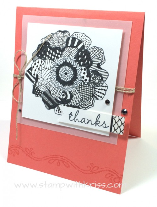 Zentangle Is The Art Of Fine Doodling And Its Fun Relaxing Even Meditative Can Be Incorporated Into Your Stamping Stampin Up Single Stamp