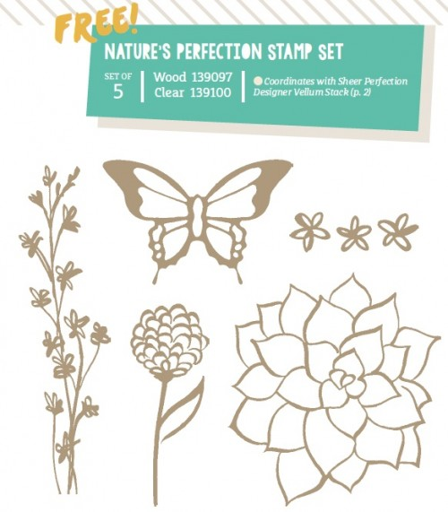 natures perfection stamp set