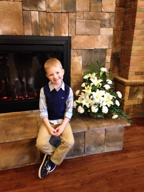 Landon on Easter 2015