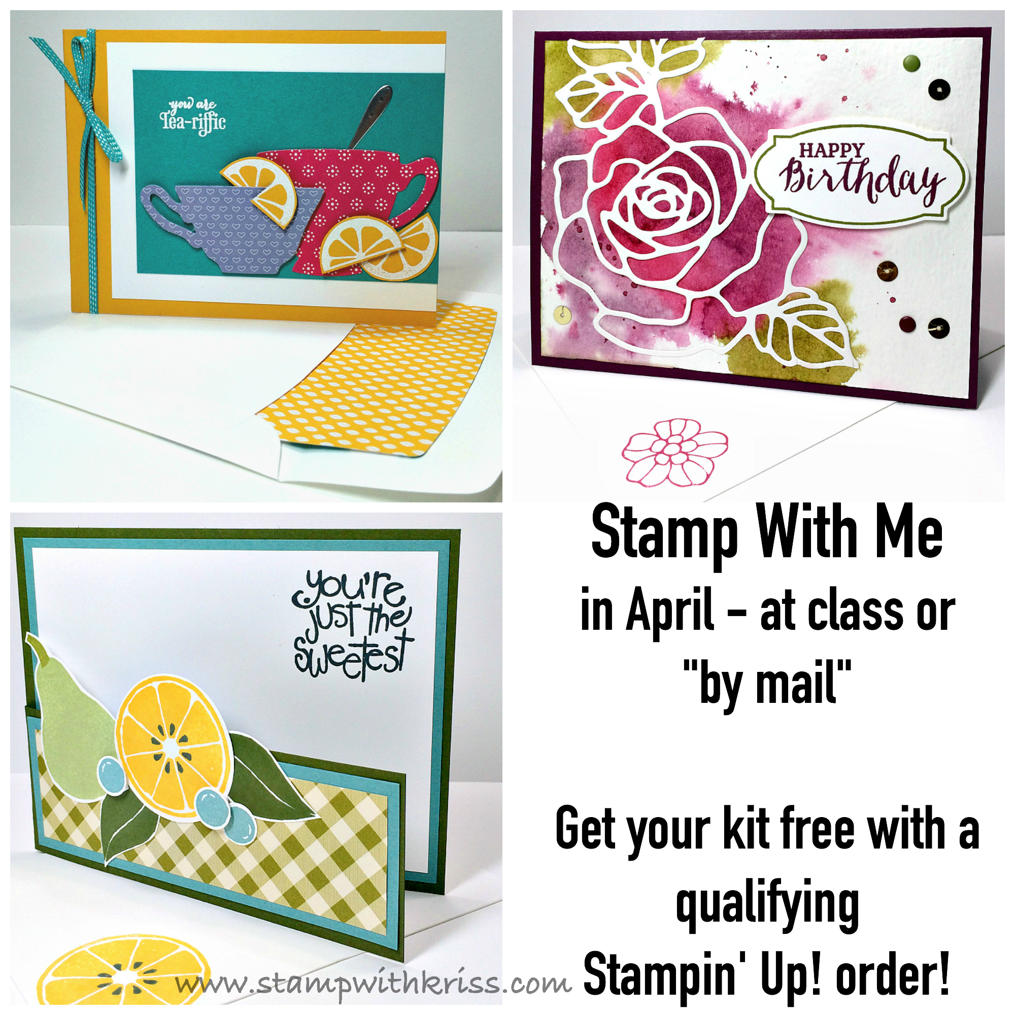 StampWithKriss com » Blog Archive » April Stamp With Me Card Class