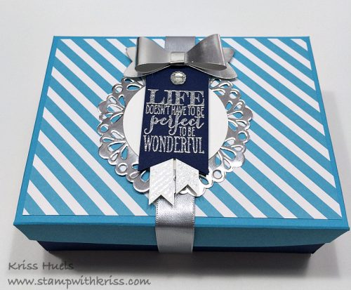 Note Card card set box top closeup