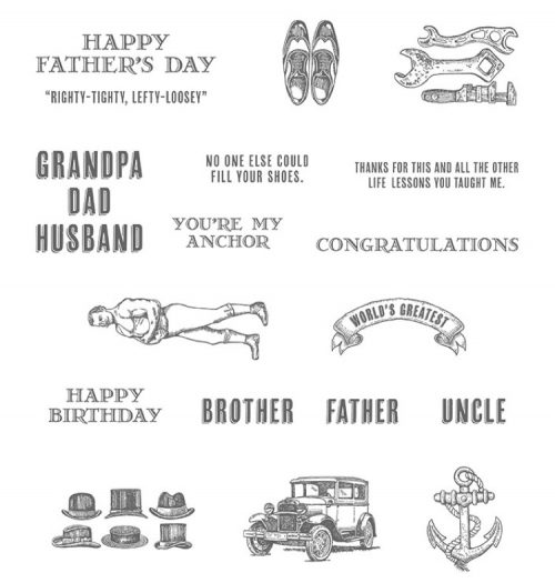guy greetings stamp set